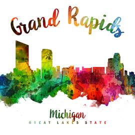 Grand Rapids Michigan Skyline 24 - Aged Pixel