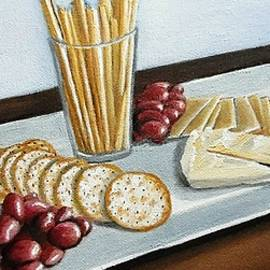 Janet Guss - Grapes and Cheese Platter