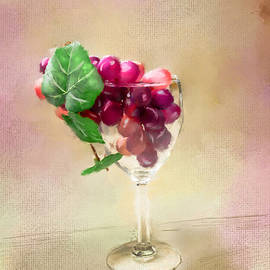Mary Timman - Grapes of Wine in Glass