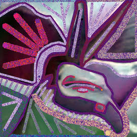 Navin Joshi - Graphic Accidental Art Discovery  ANGEL Bird GoodLuck symbol created by Navin Joshi.