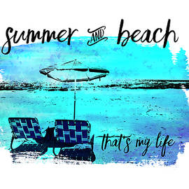 Graphic Art Summer and Beach - Melanie Viola