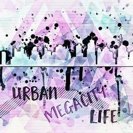 Graphic Style Vintage MEGACITY Urban Life - Melanie Viola