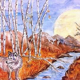 Ellen Levinson - Gray Wolf and Super Moon