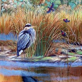 Daniel Butler - Great Blue Heron- An Interrupted Repose