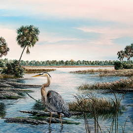 Daniel Butler - Great Blue Heron-Early Bird Gets the Worm
