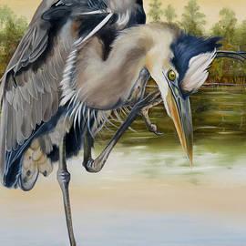 Phyllis Beiser - Great Blue Heron On The Jordan River