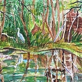 Ellen Levinson - Great Blue Heron Pond Reflections