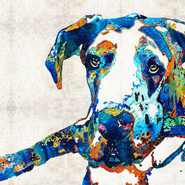 Sharon Cummings - Great Dane Art - Stick With Me - By Sharon Cummings
