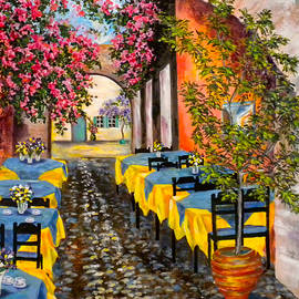 Jan Law - GREECE-A Sidewalk Vista