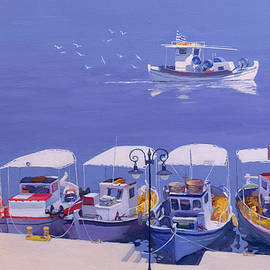 Greek Fishing Boats - William Ireland
