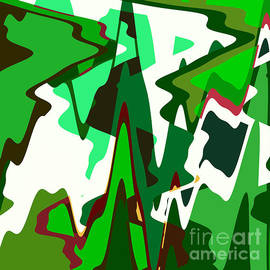 Regina Geoghan - Green Abstract Squared #2
