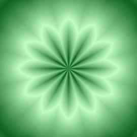 Lena Kouneva - Green Abstract Star
