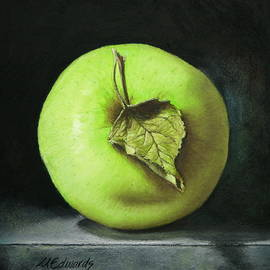Marna Edwards Flavell - Green Apple with Leaf
