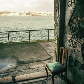 Carlos Caetano - Green Chair by a Green River