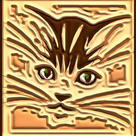 Mario Carini - Green Eyed Kitty Tile