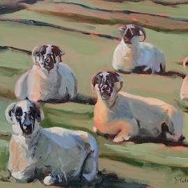 Donna Tuten - Green Hill Sheep at Rest