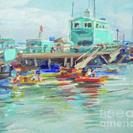 Joan Coffey - Green Pier On A Summer Da