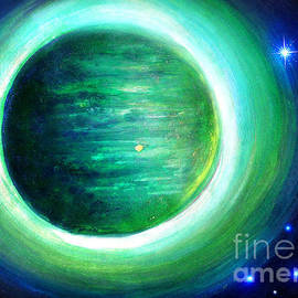 Sofia Goldberg - Green planet  Fayorris. Space art