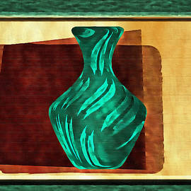 Mario Carini - Green Vase Abstract