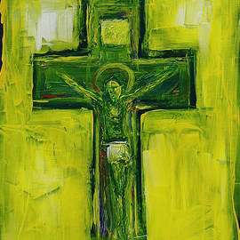 Joseph Matose - Green Yellow Crucifixion, 2011