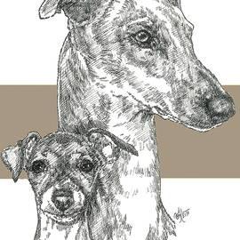 Barbara Keith - Greyhound Father and Son