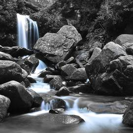 Frozen in Time Fine Art Photography - Grotto Falls in Selective Color