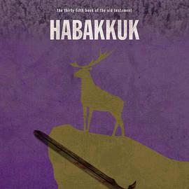 Habakkuk Books Of The Bible Series Old Testament Minimal Poster Art Number 35 - Design Turnpike