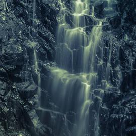 Claudia Mottram - Hadlock Falls in Acadia National Park - Monochrome