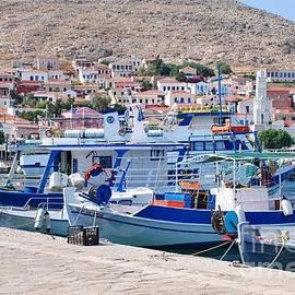 David Fowler - Halki boats in Greece