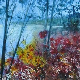 David K Myers - Hamlin Lake, Watercolor Gouache Painting