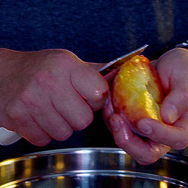 Lori Kingston - Hands at Work Peeling a Peach