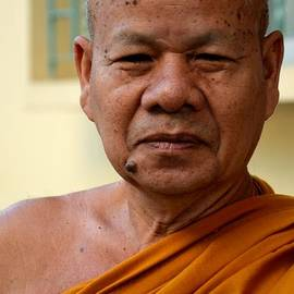 Imran Ahmed - Happy and content Thai Buddhist monk in robes Hat Yai Thailand