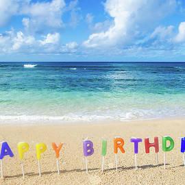 Elena Chukhlebova - Happy Birthday on the beach