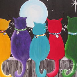 Beverly Livingstone - Happy Cats On A Fence