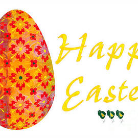Omaste Witkowski - Happy Easter Abstract Greeting Card Art by Omaste Witkowski