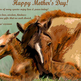 Michele  Avanti - Happy Mothers Day Mare and Foal