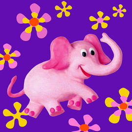 Amy Vangsgard - Happy Pink Elephant