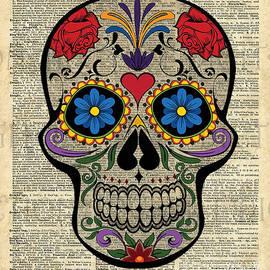Jacob Kuch - Happy Skull,Sugar Skull,Dia De Los Muertos,Halloween Artwork