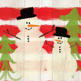 Happy Snowmen- Art by Linda Woods - Linda Woods