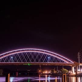 Patti Deters - Hastings Bridge with Blood Moon