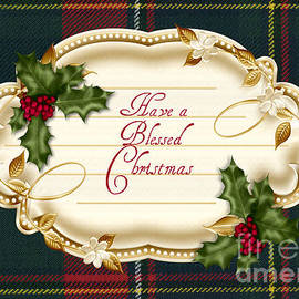 Vickie Emms - Have A Blessed Christmas Quebec Card