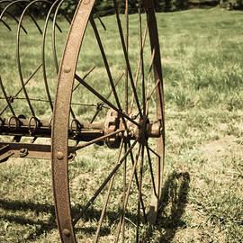 Jennifer White - Hay Rake Wheel Aged
