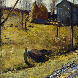 Haystacks and Barn - George Bellows