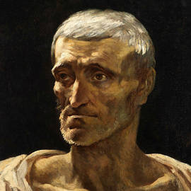 Head of a Shipwrecked Man  - Theodore Gericault