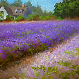 Karen Whitworth - Healing Harvest - Lavender Plein Air Painting