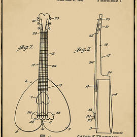 Bill Cannon - Heart Shaped Guitar Patent 1937 Sepia