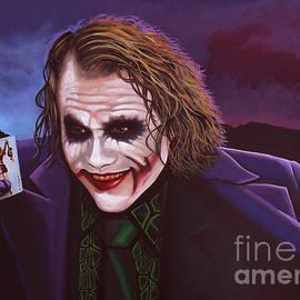 Paul Meijering - Heath Ledger as the Joker Painting