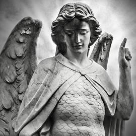 Melissa Bittinger - Heaven Waits  Archangel Michael Black and White