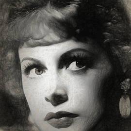 Quim Abella - Hedy Lamarr drawing