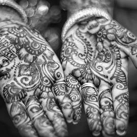 Jean Francois Gil - Henna Hands Black And White